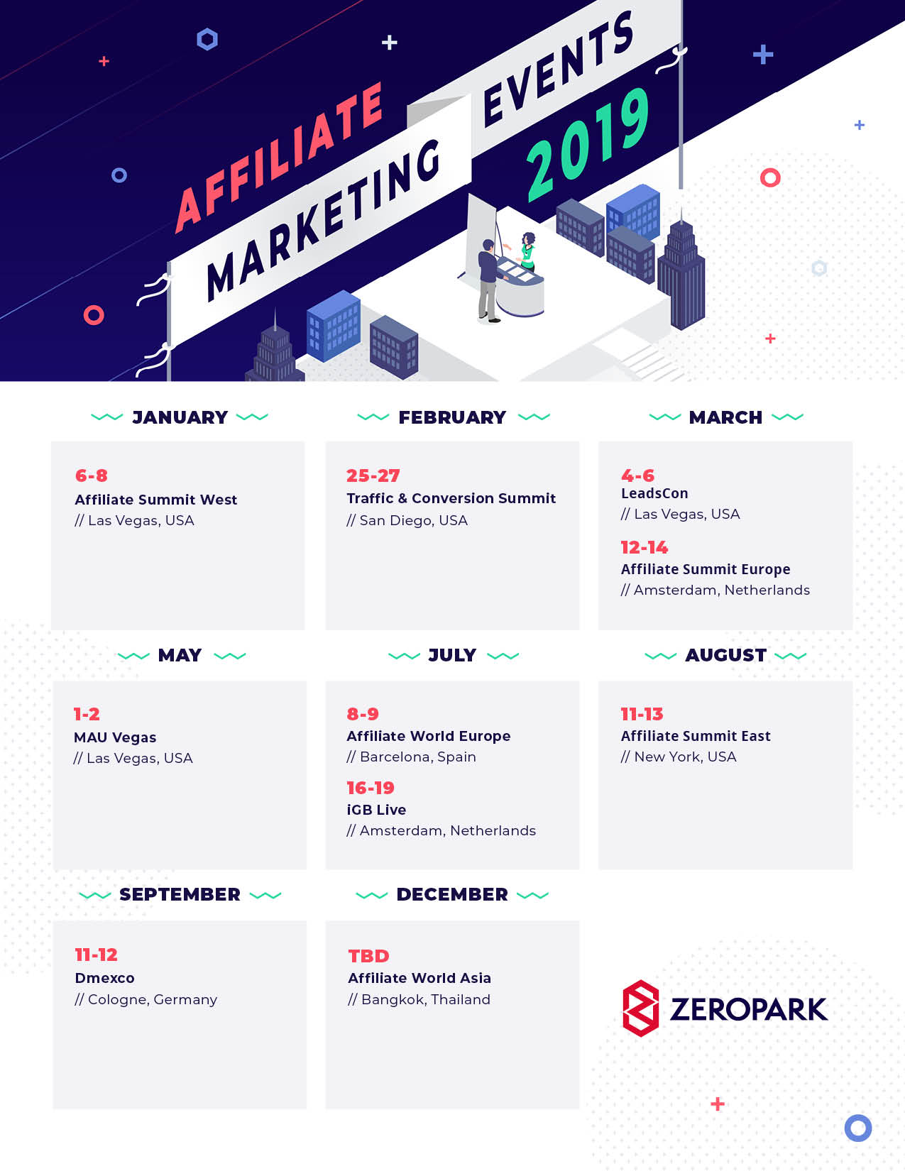 Calendar of Affiliate Marketing Events in 2019